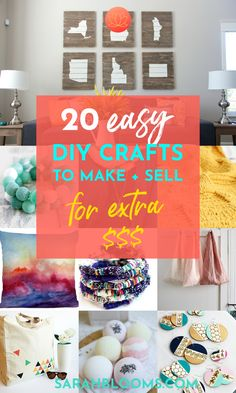 Earn extra money doing what you love! Make these 20 Best DIY Crafts to Sell for Extra Money. Make extra money for Christmas, bills, and debt with these Fun   Fabulous DIY Crafts you can sell for extra money! #sidehustles #makemoney Crafts To Make And Sell, Easy Diy Crafts, Handmade Crafts, How To Make, Sell Diy, Make Blog, Printable Designs, Extra Money, Extra Cash
