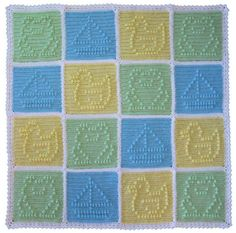 Popcorn Patchwork Blankie for Boys Crochet pattern by Craft Designs for You | Crochet Patterns | LoveCrochet