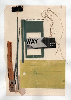 https://flic.kr/p/PtkizW | 161114: Way | book collage on paper