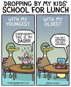 Fowl Language by Brian Gordon for December 2018 – Humor Super Funny Memes, Stupid Funny, Funny Jokes, Funny Duck, Hilarious, Funny Babies, Funny Kids, Funny Comics For Kids, Brian Gordon