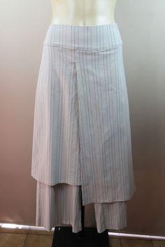Size 14 L Ladies Taupe Skants Dress Pants Pinstripe Business Office Event Design