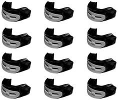Brain-Pad Pro Plus Double Laminated Mouthguard, Strap/Strapless Combo-Pack of 12 (Black/Gray, Youth) -- See this great product.