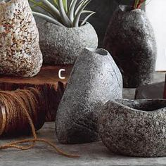 Roost Rock Planter Collection - Set Of 4