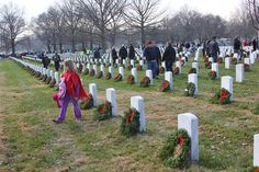 Some of the volunteers at Arlington National Cemetery, National Wreaths Across America Day, Dec. 15, 2012. #veterans