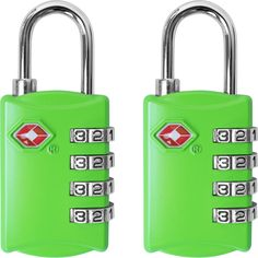 TSA Luggage Locks for Travel Bags & Suitcases - 5 Colors Available