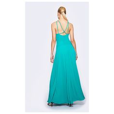 Fame&Partners V Neck Long Persian Green Stars Gaze Dress ($229) ❤ liked on Polyvore featuring dresses, gowns, persian green, v-necklongsplitmaxi, green maxi dress, long prom gowns, long maxi dresses, long party dresses and green gown