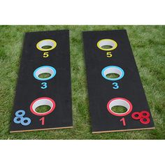 Washer toss game - we could probably make something similar.  Backyard fun.