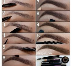 how to shade in eyebrows the most natural possible. Check this out.