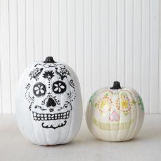 DIY pumpkins sugar skull