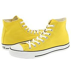 yellow converse high tops - size 12 or 12.5