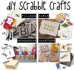 happy national scrabble day! celebrate with diy scrabble crafts :]