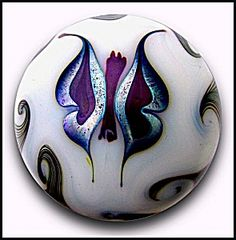 Steve Smyers 1975: Butterfly paperweight. Click on the image for more information.