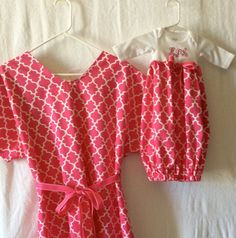 handmade maternity hospital gown and by PatsSouthernStitches