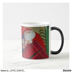 Shop Christmas Holidays by Janz Santa Claus Coffee Mug created by _LOVE_SHACK_. Christmas Coffee, Santa Christmas, Christmas Presents, Christmas Shopping, Work Gifts, Personalized Note Cards, Shopping Day, Cool Patterns, Holidays And Events