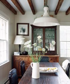 Farmhouse with industrial pendant
