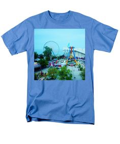 Beautiful View Of The Amusement Park. Great Image For Father's Day Presents And Home Decor. T-Shirt featuring the photograph Father's Day Collection. Have Fun by Tiana Art