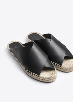 Castel Leather Espadrille Sandal // Vince
