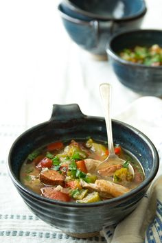 Slow Cooker Chicken Gumbo by healthseasonalrecipes #Soup #Chicken_Gumbo #Slow_Cooker #Healthy
