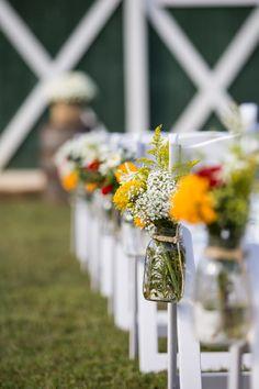 DIY Seasonal Flower Aisle Markers