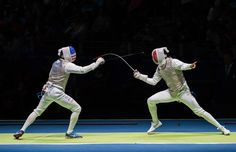 Rio 2015 Fencing - Canada's Maximilien van Haaster, right, competes against against USA's Gerek Meinhardt in their Men's (1340×866)