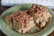 APPLE NUT COFFEE CAKE: Apple and nuts are the perfect for coffee cake  #apple #nut #CoffeeCake