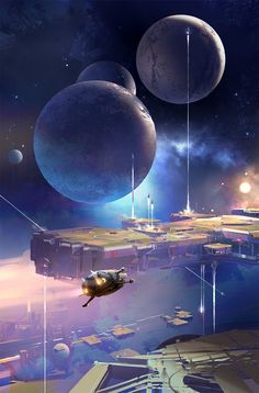 Space stuff. Art by Sparth. http://www.tor.com/2016/05/24/announcing-john-scalzi-the-collapsing-empire/