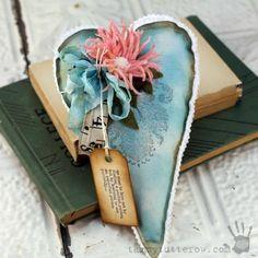 Felt Flower Gift Heart by Tammy Tutterow