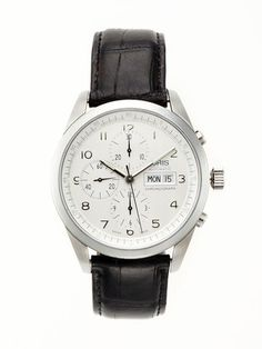 oris   classic chronograph watch (just another beautiful thing i will never own)