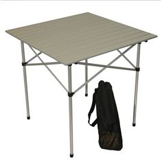 Product Feature: LT4327GA Table in a Bag Large Picnic 43 x 27 x 27H Aluminum Portable Table With Carrying Bag, Silver color, easy assemble to become a table, and carry bag included.  https://aspenbrands.com/categories/261476/table%20in%20a%20bag/products/lt4327ga/table%20in%20a%20bag