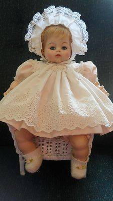 "madame alexander baby doll.... Is it me or is that bonnet a tad on the ""that's a bit much"" side? Lol"
