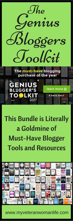 This is an amazing deal! They only offer this bundle for a short period, then it's gone until next year! The Genius Bloggers Toolkit is packed with all the blogging tools and resources that you wished you could afford, over $5000 worth - for the low price of $97.  Hurry before the offer ends! #affiliate
