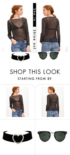 """Black shiny top"" by subvilli ❤ liked on Polyvore featuring Spitfire"