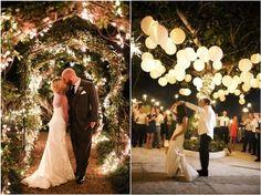 rustic lights wedding decor ideas / http://www.deerpearlflowers.com/romantic-wedding-lightning-ideas/