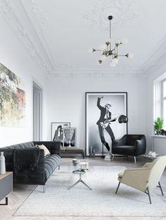 White Interior Design, Interior Design Inspiration, Room Inspiration, Cheap Wall Decor, French Decor, Home Living Room, Home Art, Interior Architecture, Sweet Home