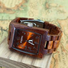Wood Watch Men  Womens Wooden Watch  Vintage by leatherwrapwatches