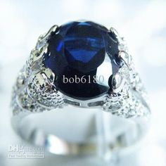 $24.99  Free Shipping PERFECT EXQUISITE NATURAL 4.6CT SAPPHIRE 14KT GOLD GEMSTONE RING