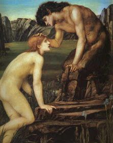 satyr and nymph In Greek mythology, satyrs are deities of the woods and mountains. they usually have a goat's tail, flanks, and hooves. John William Waterhouse, Dante Gabriel Rossetti, Roman Mythology, Greek Mythology, Classical Mythology, Pre Raphaelite Paintings, Eros And Psyche, Pre Raphaelite Brotherhood, Edward Burne Jones