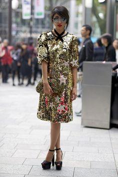 Dolce & Gabbana star dress. Tokyo Fashion Week