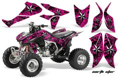AMR RACING ATV GRAPHIC KIT HONDA TRX450...Yeah, I would be that girl in the woods for sure, too bad they don't make these kits for my atv