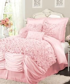 Take a look at this Pink Lucia Comforter Set by Lush Décor on #zulily today!