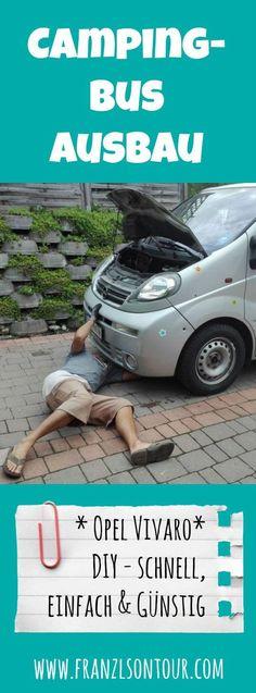Campingbus-Ausbau Opel Vivaro: schnell, einfach & günstig