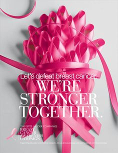 "Estee Lauder Companies' Breast Cancer Campaign: ""We're stronger together!"" — Project Vanity"