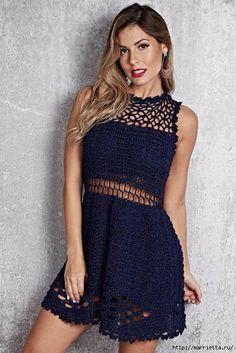 Καλοκαιρινό φόρεμα από πλεκτά νήματα με Lurex (1) (467x700, 261Kb)