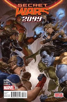 Preview: Secret Wars 2099 #3, Secret Wars 2099 #3 Story: Peter David Art: Will Sliney Covers: Dave Rapoza & Mark Bagley Publisher: Marvel Publication Date: July 8th, 2..., #All-Comic #All-ComicPreviews #Comics #DaveRapoza #MarkBagley #Marvel #PeterDavid #Previews #SECRETWARS2099 #WillSliney