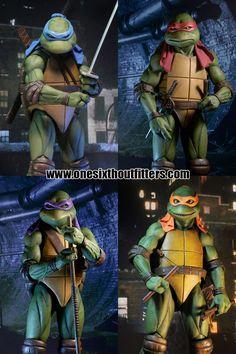 PRE-ORDER 1/4 Scale Teenage Mutant Ninja Turtles (1990 Movie) 4 Pack Figures by NECA