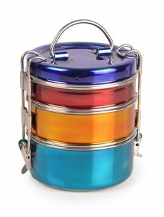 colourful tiffin dabba! colour combination changes