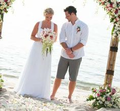 Groom in shorts