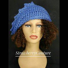 Womens Crochet Hat Womens Hat Trendy Crochet Beanie Hat Womens Beanie Berry Blue Hat LAUREN Beanie Strawberry Couture by strawberrycouture by #strawberrycouture on #Etsy