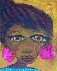 Dominican Child with Pink Earrings