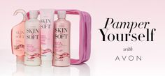 There's no bad day to pamper yourself. You deserve it! For today only, get the Skin So Soft collection in Soft & Sensual with a purchase of $55 or more. Use code: PAMPER. Expires Midnight ET, 10/6/16, while supplies last. #AvonRep